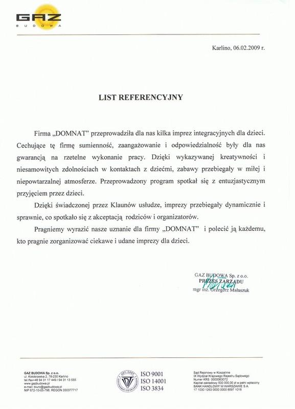 GAZ BUDOWA Sp. z o.o. - Prezes Zarządu mgr inż. Grzegorz Małaszuk